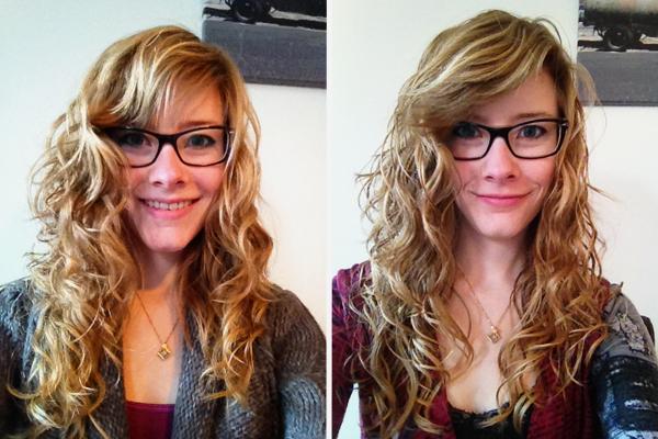 Links: eerste dag no poo, rechts na twee maanden
