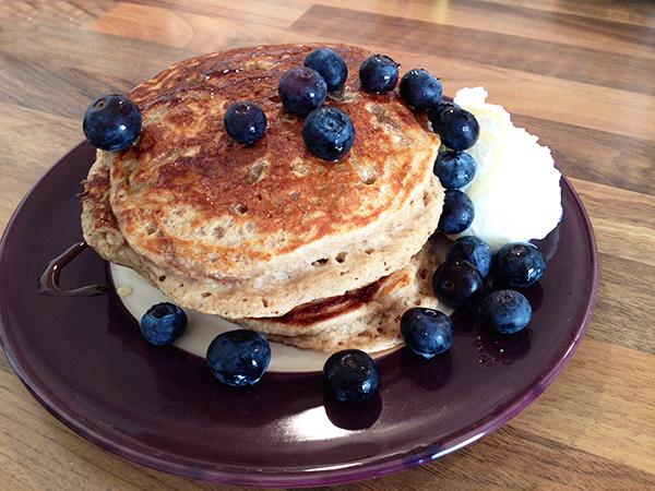 Perfecte pannenkoekjes met blauwe bessen