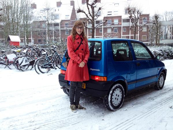 In de sneeuw begin 2013