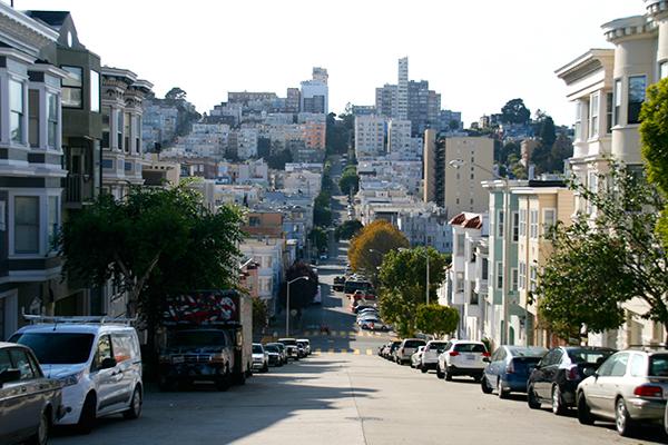 Willekeurige straat in San Francisco