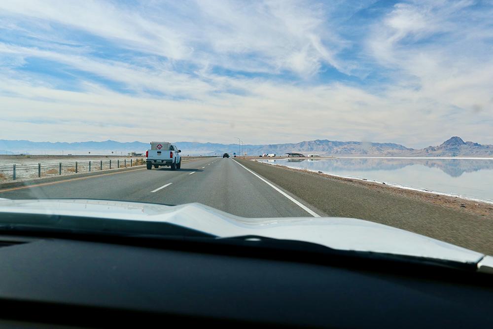 Onderweg naar de Bonneville Speedway (Salt Flats)
