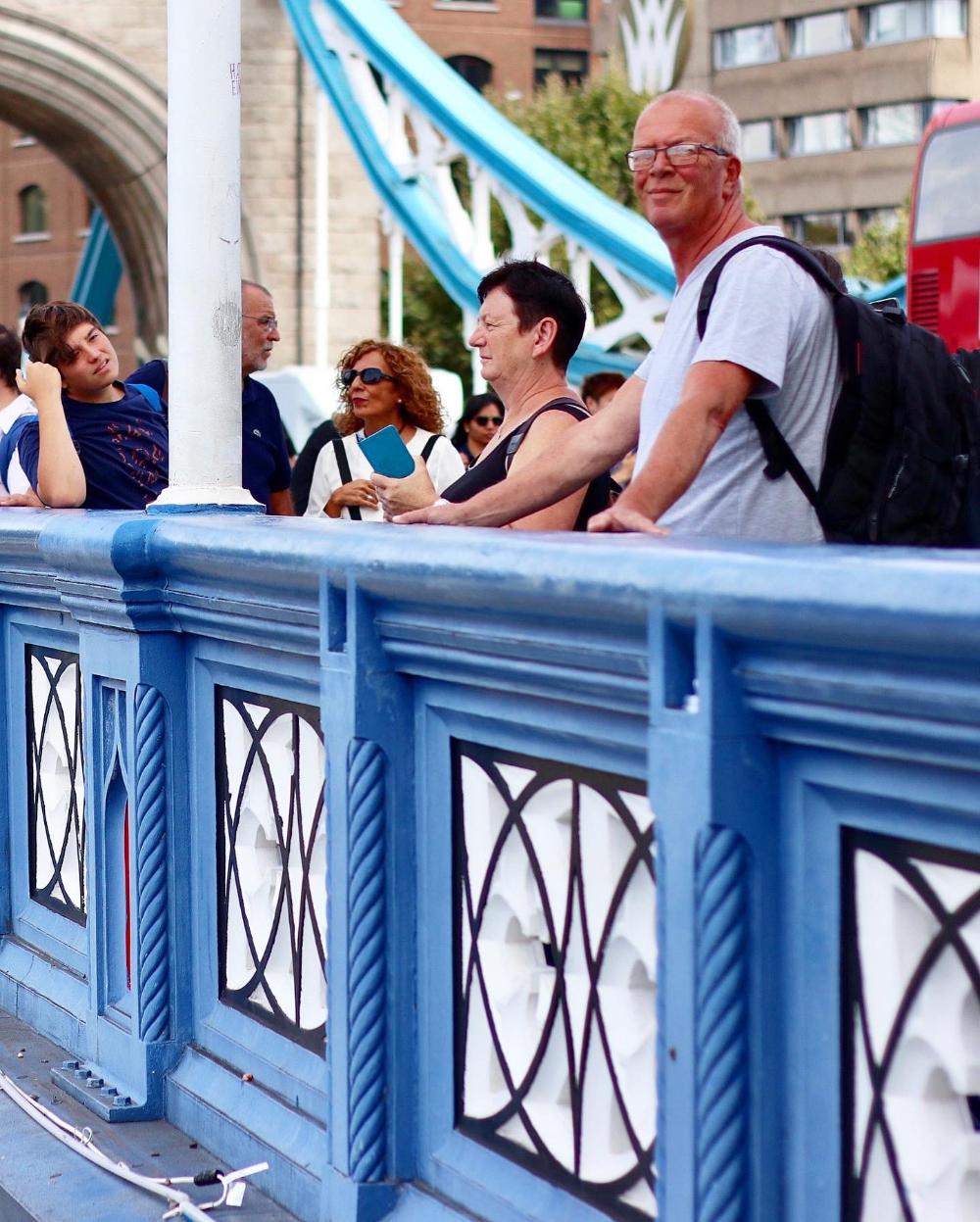 Papa op Tower Bridge